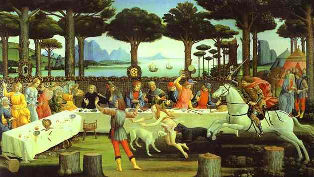 alessandro-botticelli-the-banquet-in-the-pine-forest