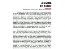 A Morte do Autor, Roland Barthes