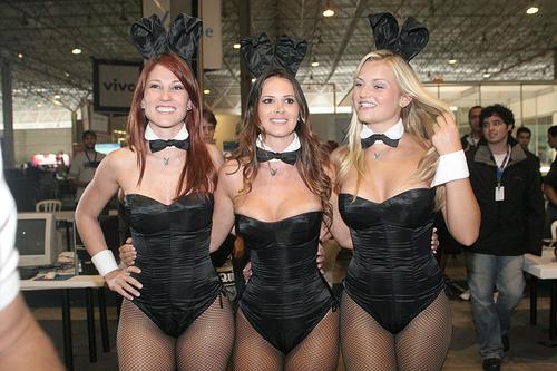 Coelhinhas da Playboy, atrativos femininos para a nerdzada