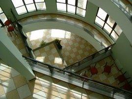 vista interna do prédio da cesma