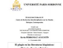 El plagio en las literaturas hispánicas, Kevin Perromat (Sorbonne, França)