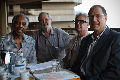 Gilberto Gil, Cláudio Prado, Laymert Garcia dos Santos e Pierre Levy.