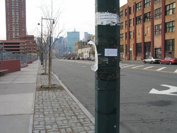 Poste de uma rua em Nova York