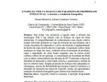 O Papel da web na mudança de paradigma de propriedade intelectual, Daiane Hemerich (UPF-RS)