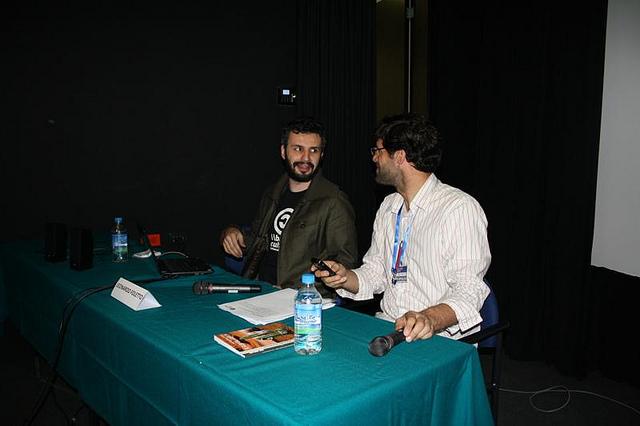 Yo e Santiago García, dos Radialistas, coordenador do evento.
