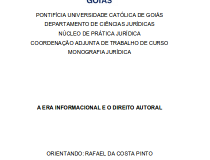 A era informacional e o direito autoral, Rafael Pinto (PUC-GO)